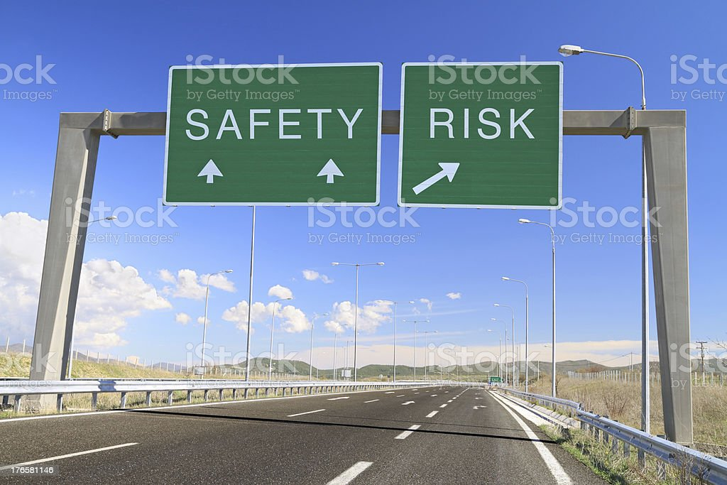 Safety or risk. Make a choice royalty-free stock photo