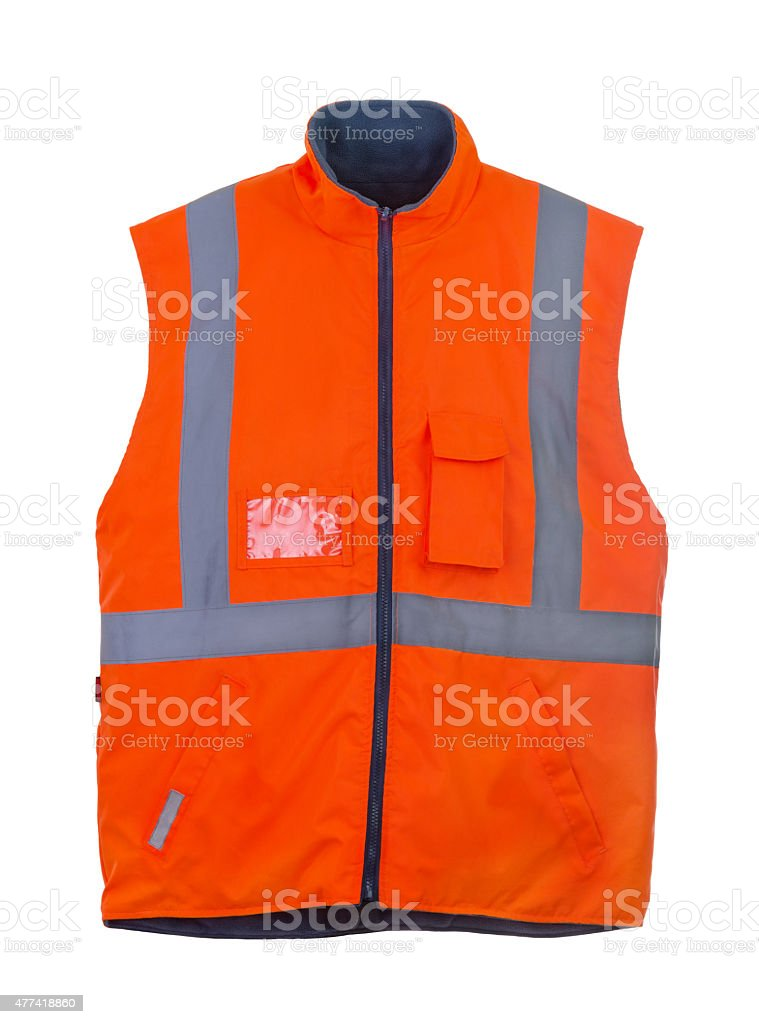 Safety orange vest stock photo