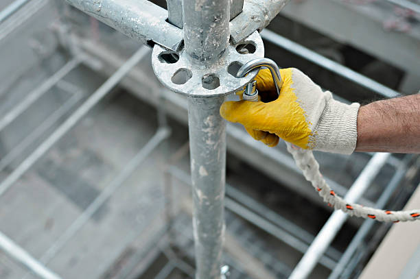 safety safety worker. scaffolding stock pictures, royalty-free photos & images