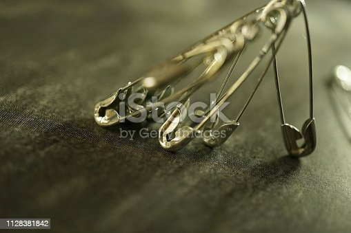 shot of a safety pin