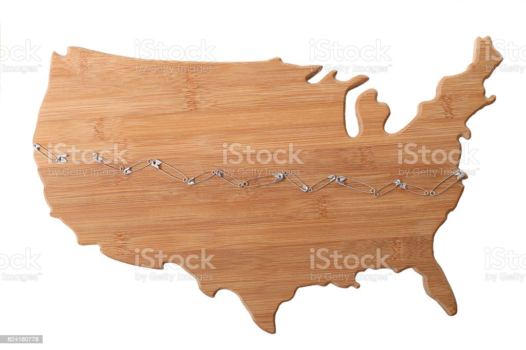 Safety Pins Across The USA stock photo