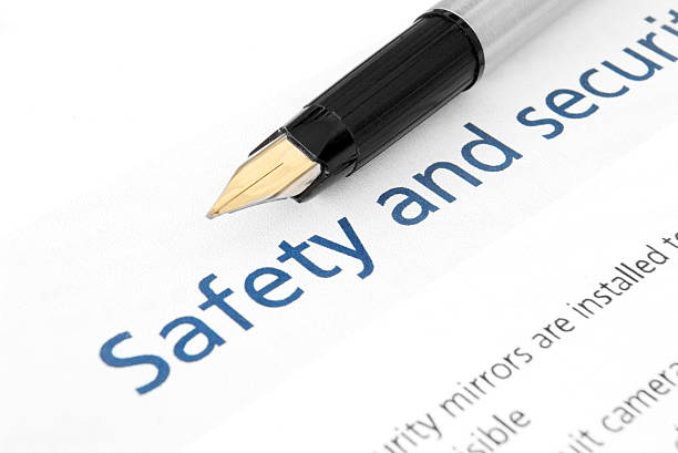 Safety & security Audit checklist stock photo