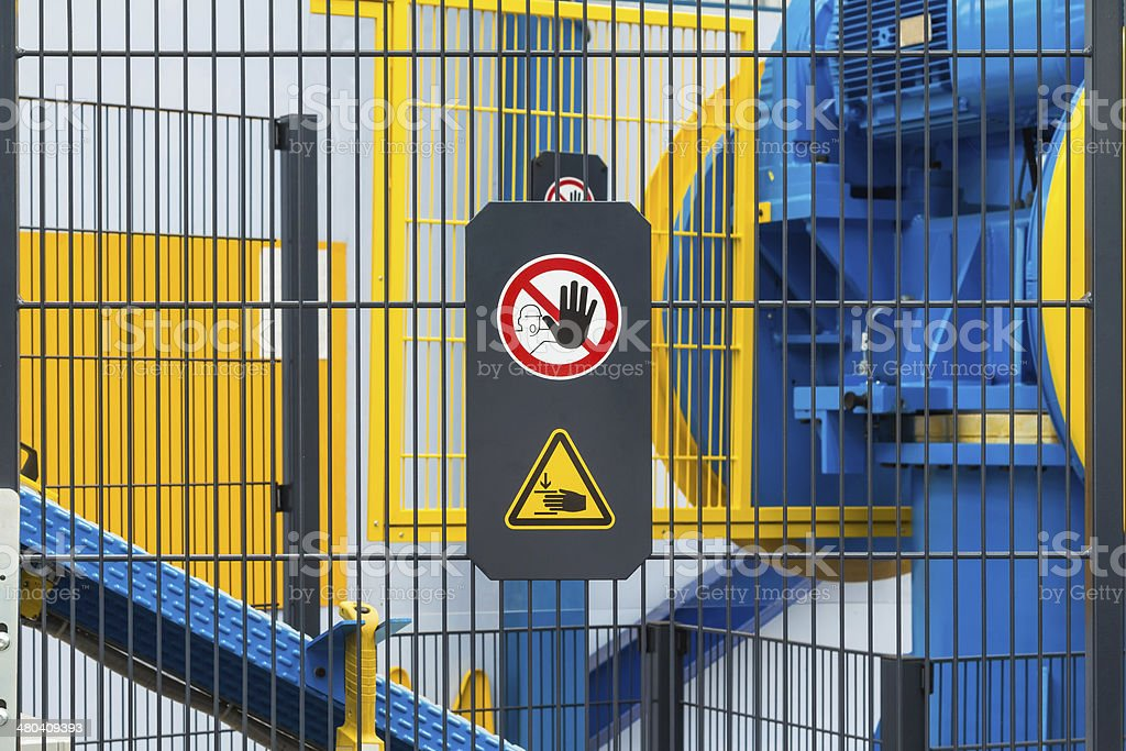 Safety sign stock photo