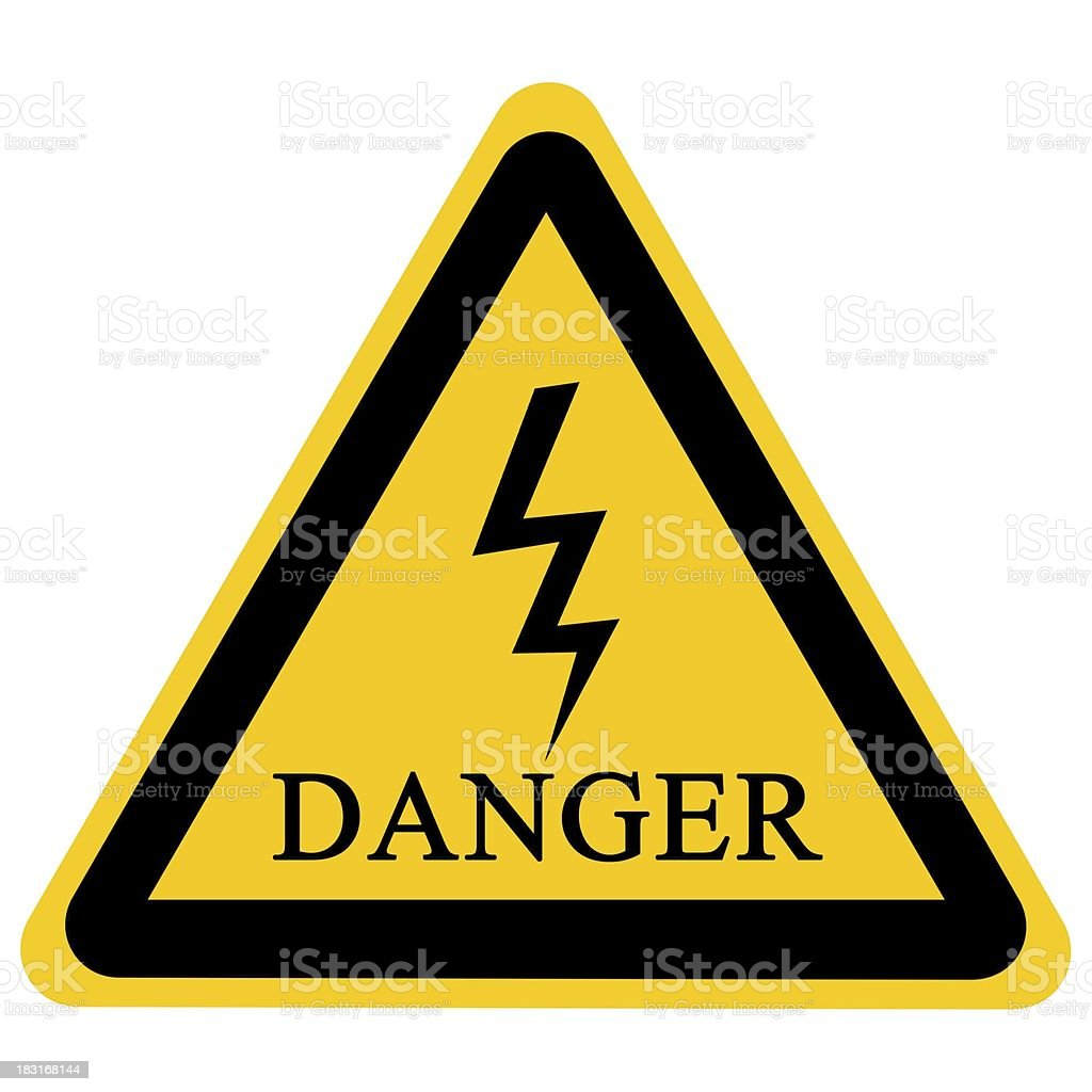 A safety sign warning of an electrical hazard stock photo
