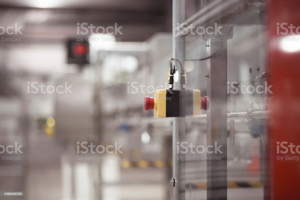Safety stop button stock photo