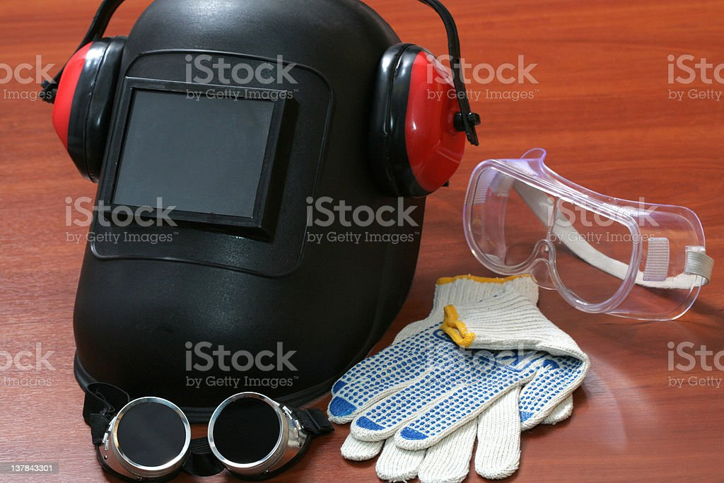 Safety tools stock photo