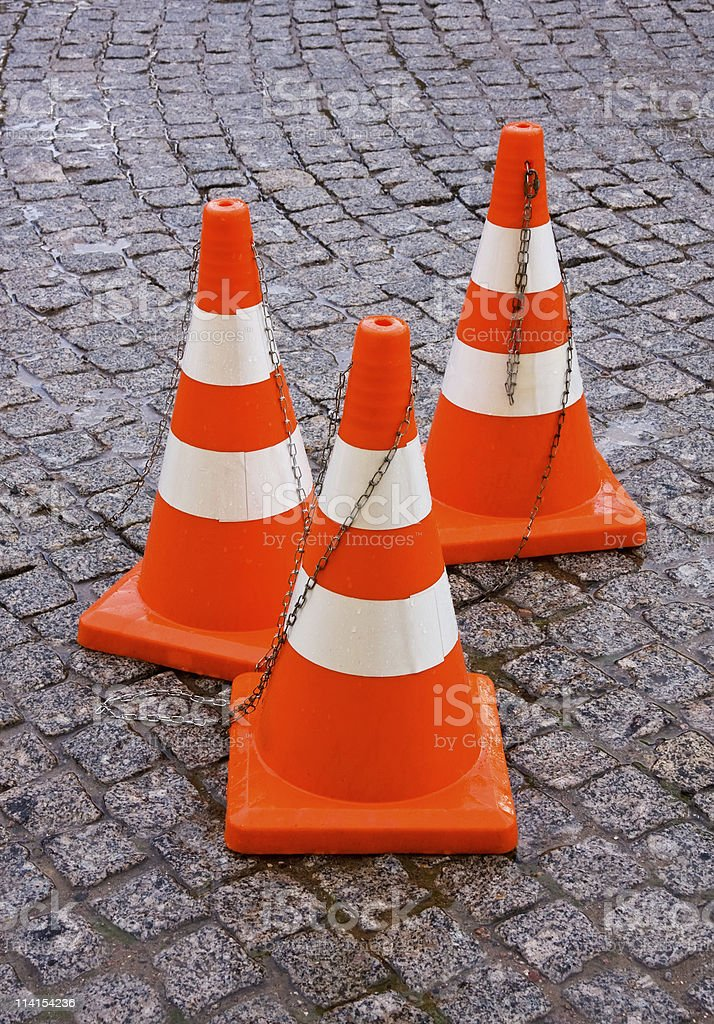 Safety Traffic Cones stock photo