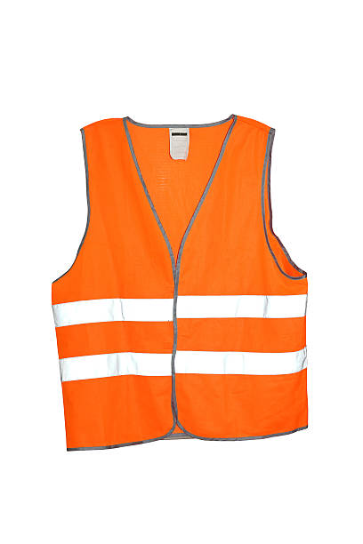 Safety vest Orange safety vest isolated included clipping path reflective clothing stock pictures, royalty-free photos & images