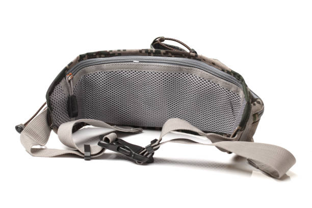 safety waist pouch for traveler  isolated on white background - waist bag stock photos and pictures