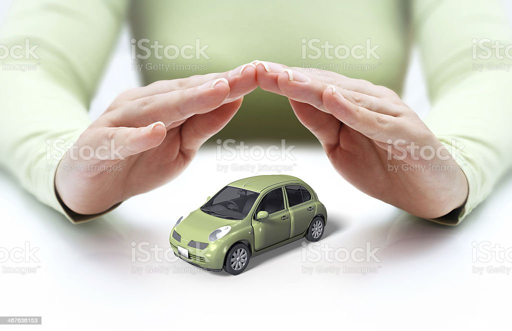 safety your car - hands covering stock photo