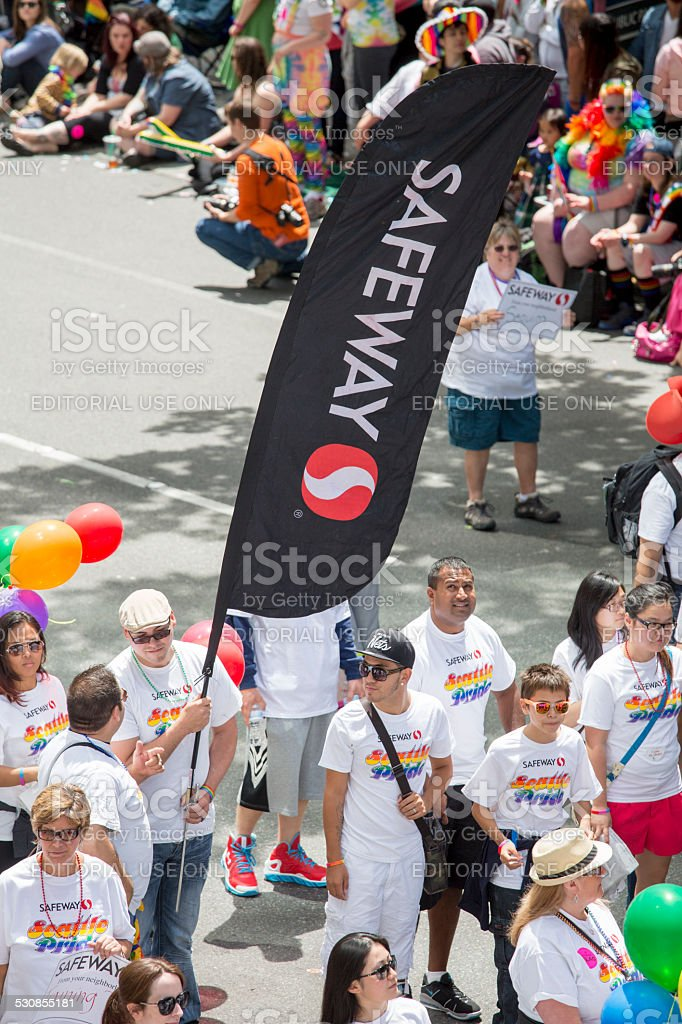 Safeway and Seattle Gay Pride Festival 40th Anniversary Celebration stock photo