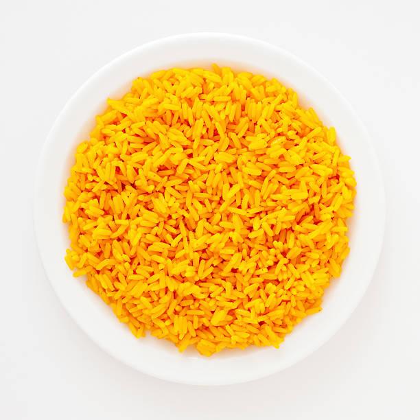 saffron rice - saffron on white bildbanksfoton och bilder