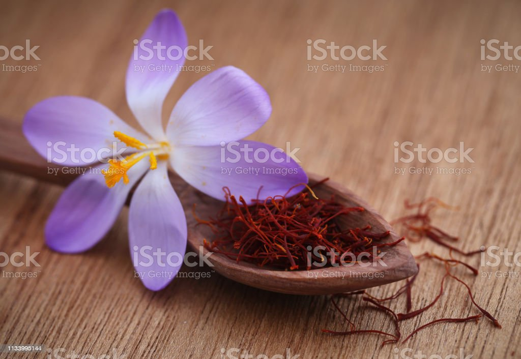 Saffron With Crocus Flower Stock Photo Download Image Now Istock
