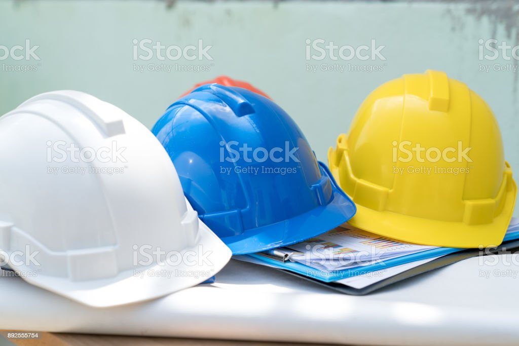 Safty helmet for protect head for architect or civil engineer or...