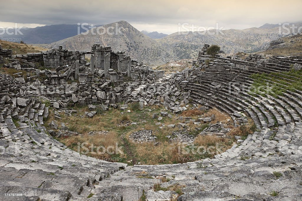Sagalassos, Burdur, Turkey royalty-free stock photo