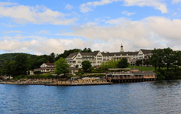 Sagamore Hotel on Lake George NY in the summer stock photo