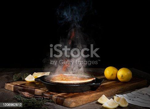 Saganaki Cheese Flambé (Click for more)