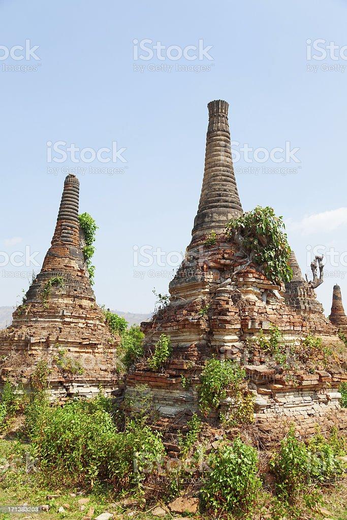 Sagar, Lake Inle, Myanmar royalty-free stock photo