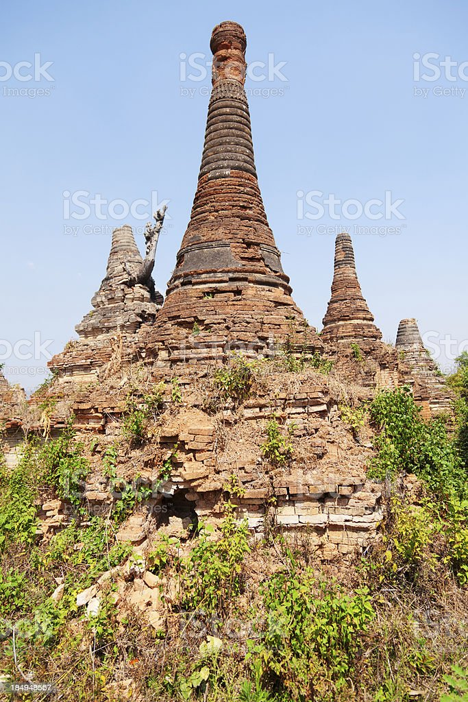 Sagar, Lake Inle, Myanmar royalty-free stock photo