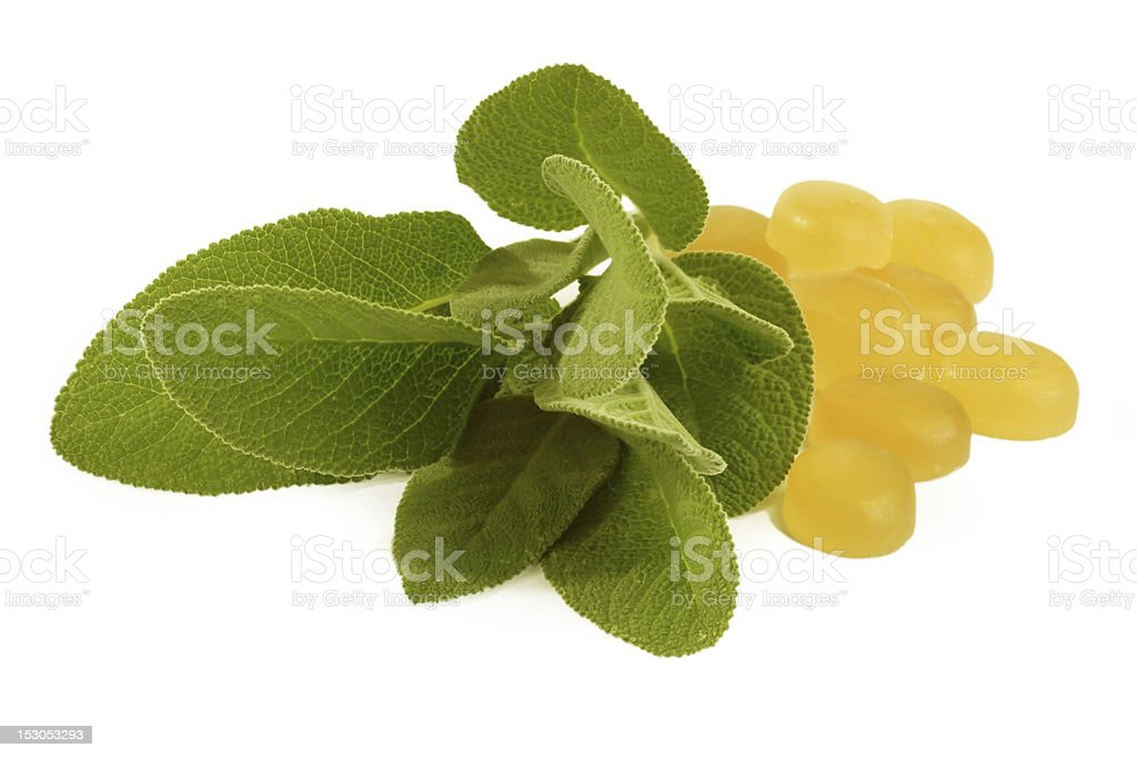Sage cough drops stock photo