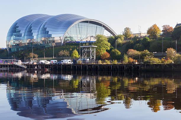 sage gateshead concert hall on newcastle gateshead quayside - gateshead stock photos and pictures