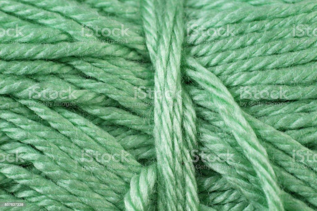 Sage Green Yarn Texture Close Up stock photo
