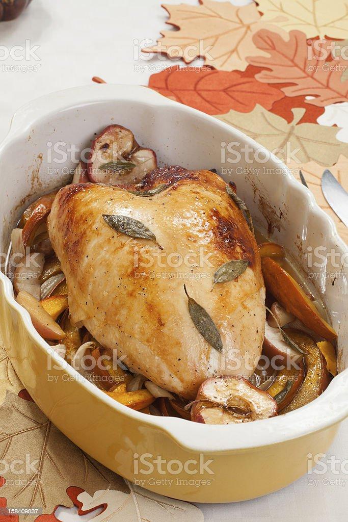 Sage-Honey Turkey Breast stock photo