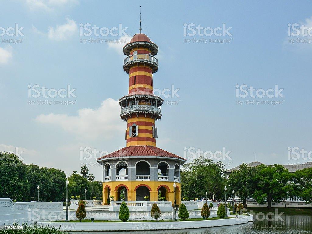 Sages' Lookout, Summer Palace - Ayutthaya, Thailand stock photo