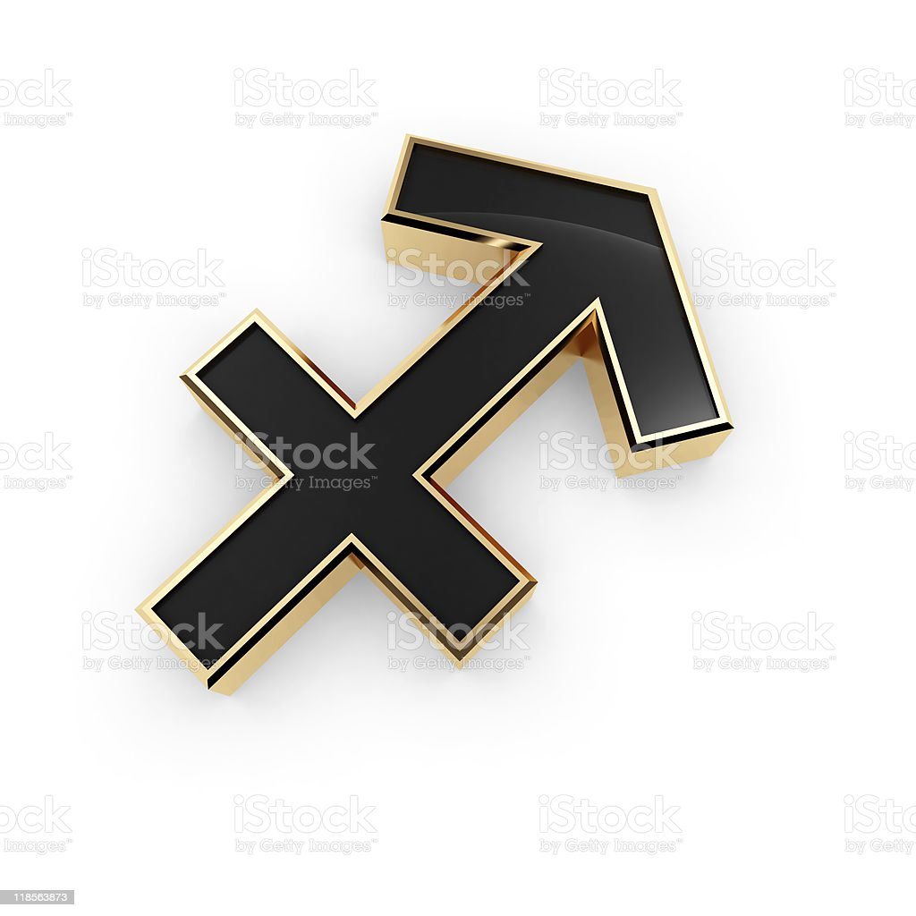 Saggitarius zodiac symbol icon stock photo