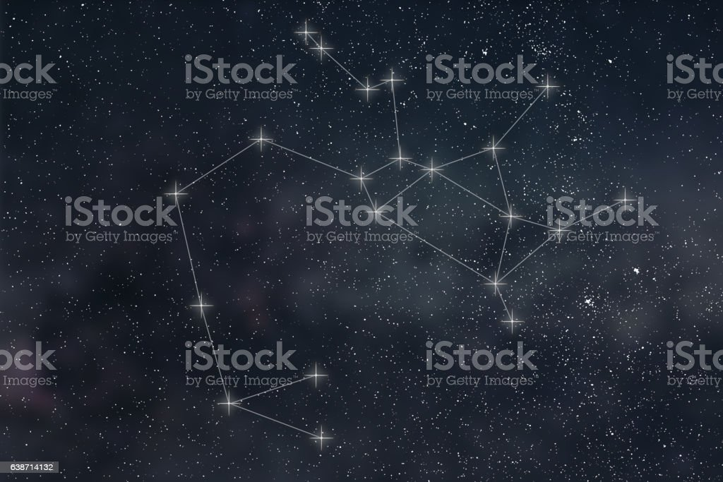 Sagittarius Constellation. Zodiac Sign Sagittarius constellation lines stock photo