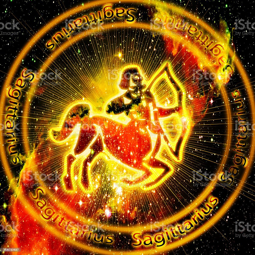 Sagittarius  sign stock photo