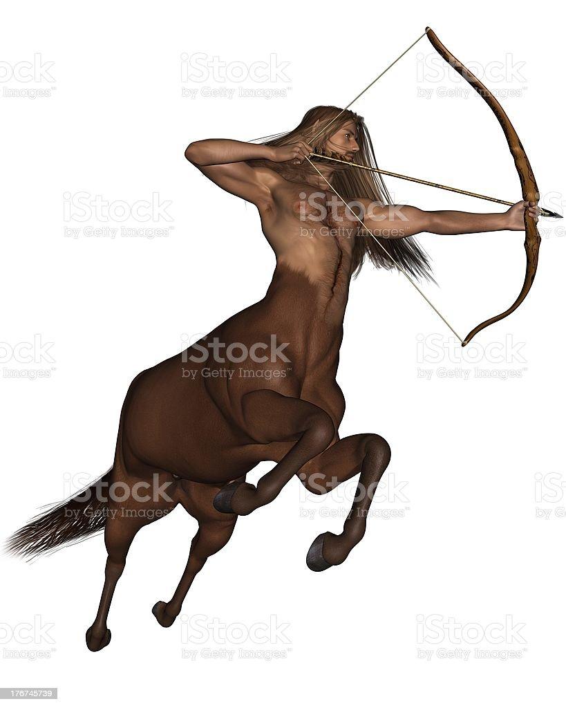 Sagittarius the archer - galloping stock photo