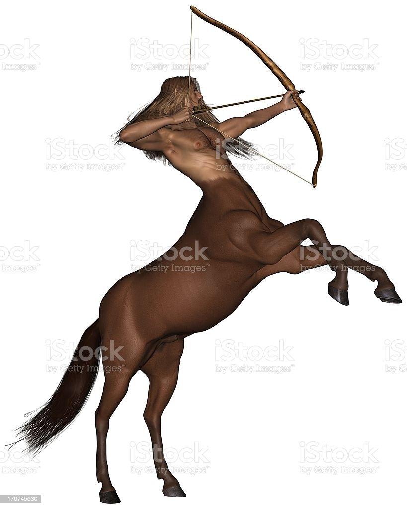 Sagittarius the archer - rearing stock photo
