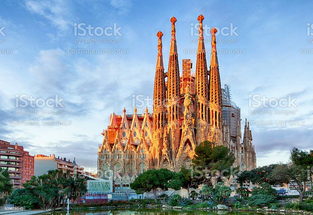 Sagrada Familia, Barcelona. Spain. stock photo