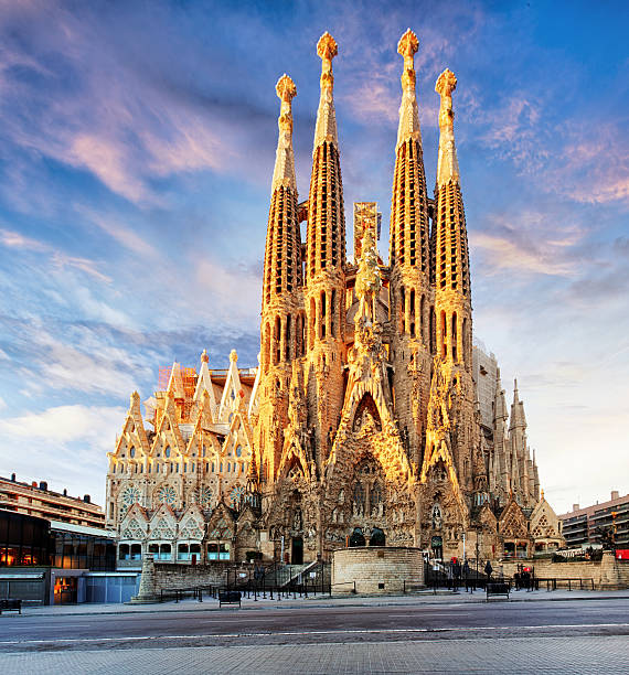 sagrada familia, barcelona. spain. - international landmark stock photos and pictures