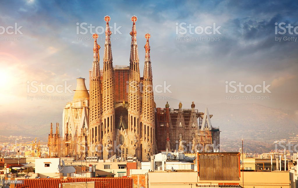 Catedral de la Sagrada Familia en Barcelona - foto de stock
