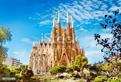 istock Sagrada Familia Cathedral in Barcelona 481444484