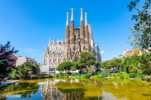 istock Sagrada Familia Cathedral in Barcelona, Spain 1182122355
