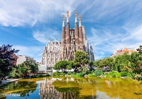istock Sagrada Familia Cathedral in Barcelona, Spain 1201719244