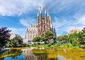 Sagrada Familia Cathedral in Barcelona, Spain