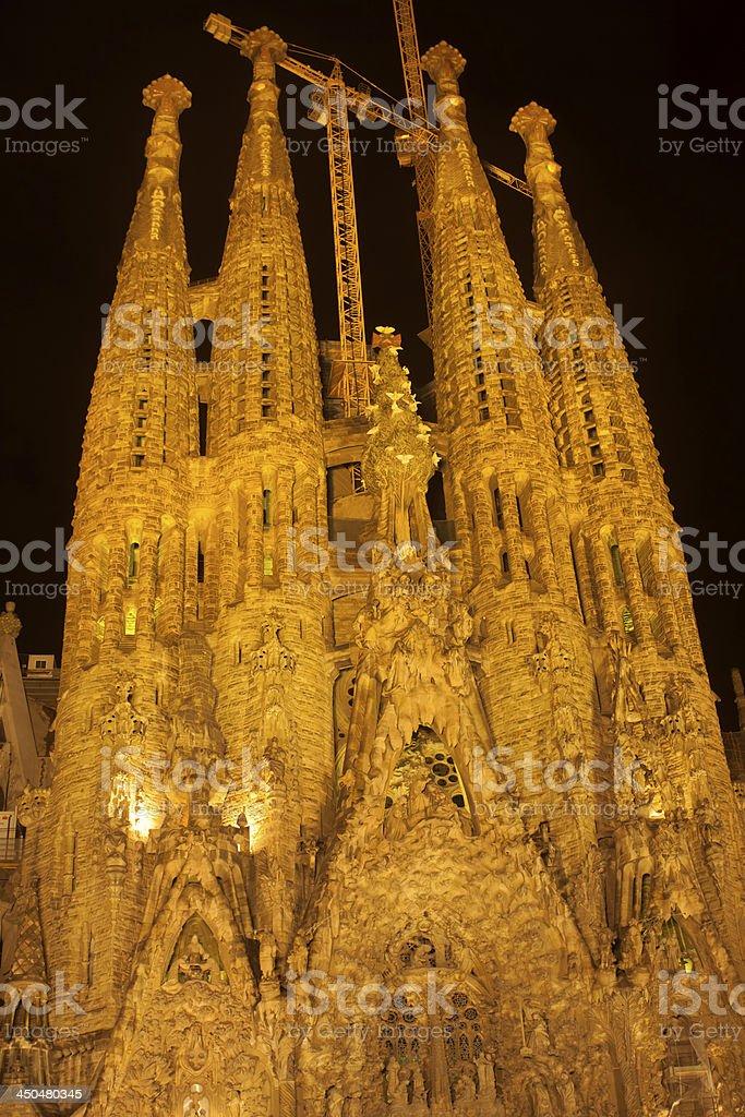 Sagrada familia cathedral royalty-free stock photo