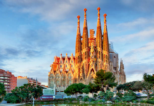 Sagrada Familia,  Catholic church in Barcelona, Spain stock photo