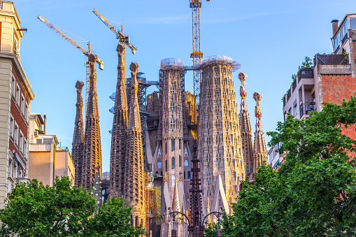 Sagrada Familia. Construction of the longest in the century. The Streets Of Barcelona