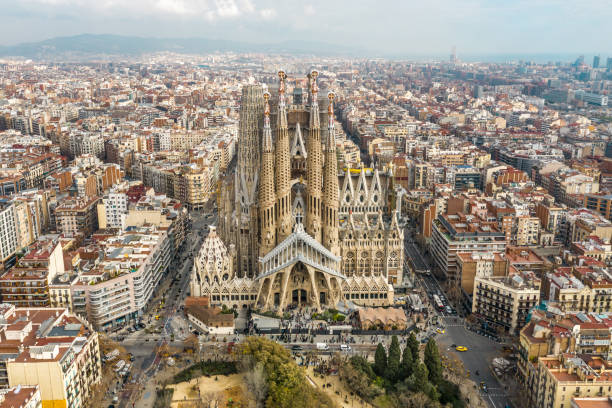 Sagrada Familia in Barcelona Sagrada Familia in Barcelona barcelona spain stock pictures, royalty-free photos & images