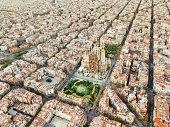 Eixample neighborhood in Barcelona