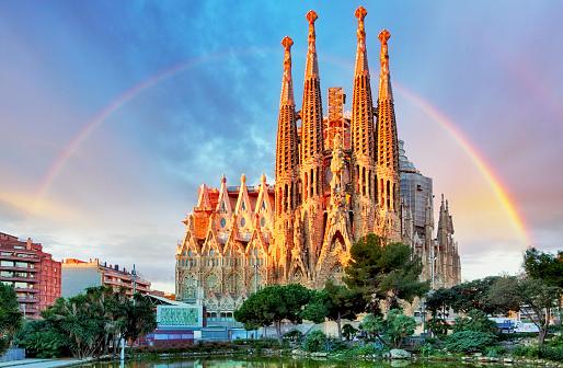 Sagrada Familia, in Barcelona, Spain