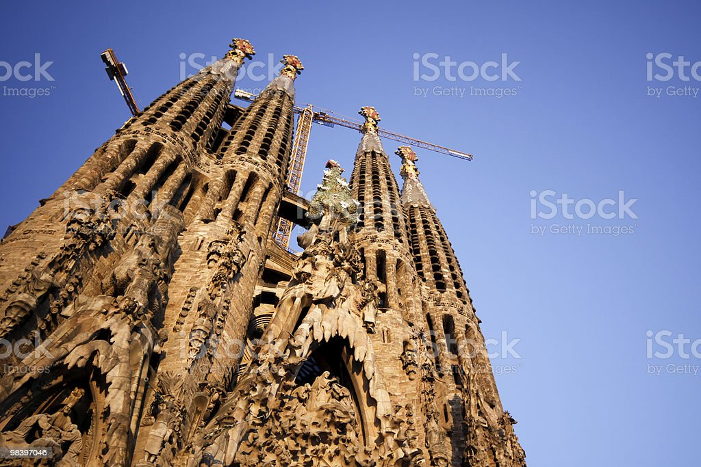 Sagrada Familia in Barcelona, Spain royalty-free stock photo