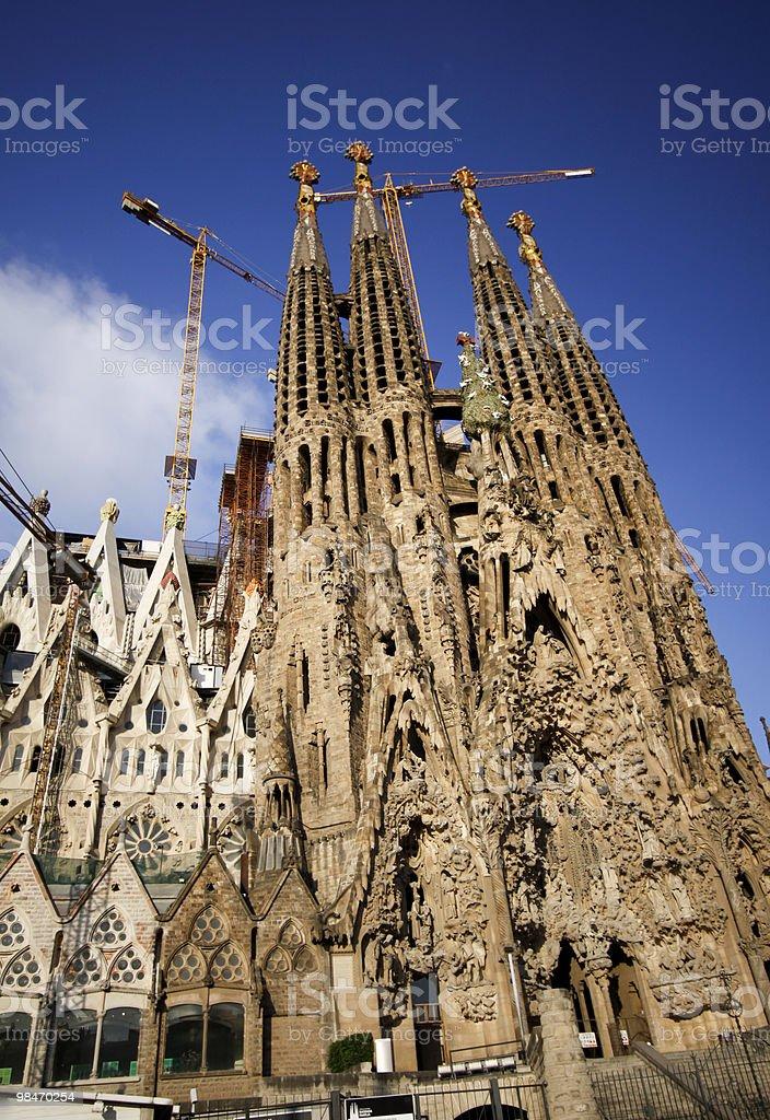 Sagrada Familia a Barcellona, Spagna foto stock royalty-free