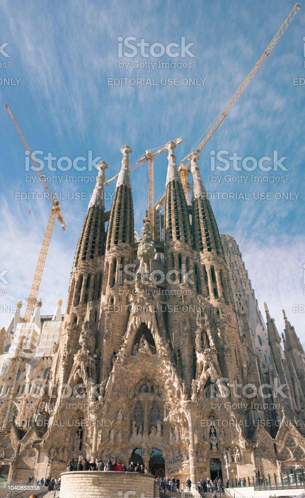 Sagrada Familia Large Roman Catholic Church In Barcelona Spain Stock Photo Download Image Now Istock