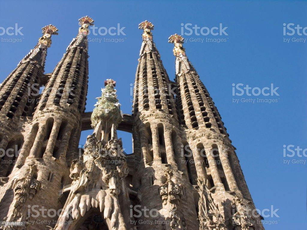 Sagrada familia royalty-free stock photo